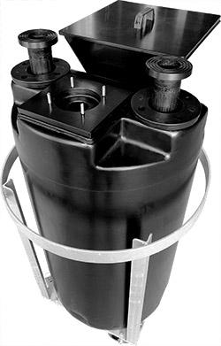 Doseertank Anti-Statisch, Kunststof tank van Anti-Statisch PE, tank zwart PE, mengtank, PE-EL