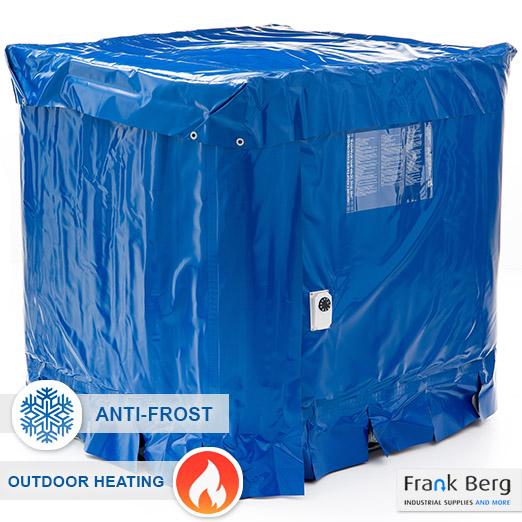 ibc container vorst winter bescherming tegen bevriezing verwarming vorstbeveiliging, ibc container vorstvrij houden