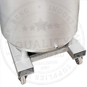 réservoir en acier inoxydable avec module de chariot élévateur, manchons de chariot élévateur