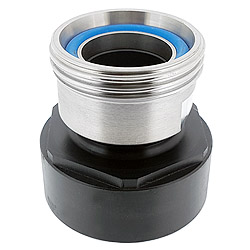 IBC container adapter with dairy coupling