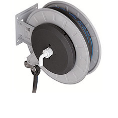 Automatic hose reel with Adblue hose