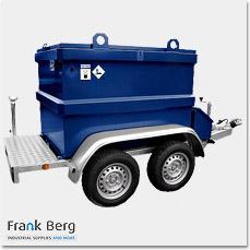 dieseltank op aanhanger, dieseltank aanhangwagen, KIWA IBC, brandstof aanhanger