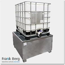 Bund, IBC-Bunds, Auffangwannen, Auffangbehälter, auslaufsicher, Auffangwannen, IBC Auffangpalette