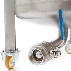 robinet à tournant sphérique, sortie, réservoir de mélange en acier inoxydable, agitateur
