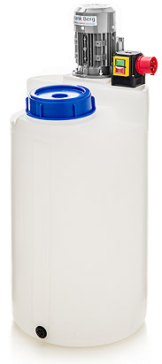 doseertank, doseer vaten, aanmaakvat, aanmaaktank, opslagtank, opslagtanks, roerwerk, HDPE tanks, kunststof tanks