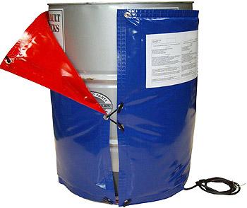 waterdichte vatverwarmer ip54, drum verwarmen, buiten, vorst, vaten opwarmen