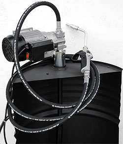 vatpomp, olie, hydraulische olie pomp, 200 liter vaten pomp, vatenpomp, elektrische vatpomp