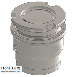 Dry Break coupling Tank Unit DN100 4""