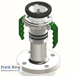 Dry break coupling, Hose Unit, dry disconnect coupling, flanged, mounted on flange