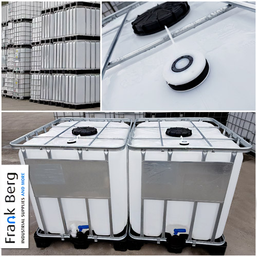 Used IBC containers with CDS dip tube, CDS, SEC, coupling, suction tube