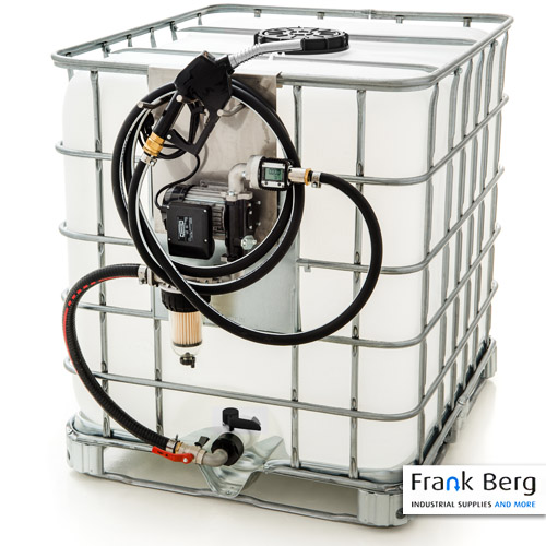 diesel pump, ibc container, tote, 1000L, diesel tank, diesel pumpset, 230V diesel pump