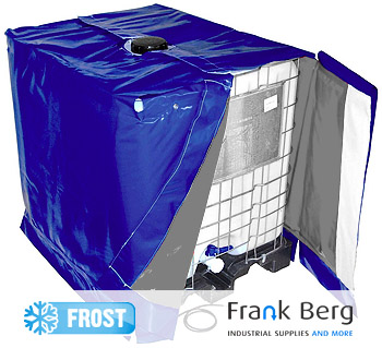 IBC container winter frost protection, anti freeze, freeze protection, heater, heating, IBC, Tote, heating jacket, heating blanket, cover