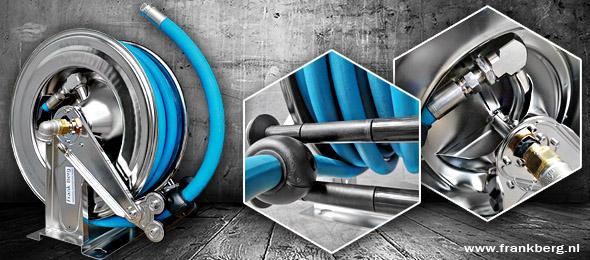 industrial hose reels, automatic hose reels, stainless steel hose reel