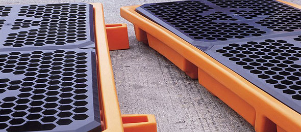 drum bund, drum spill containment pallet, spill sump pallets, drum spill trays, drip trays for drums