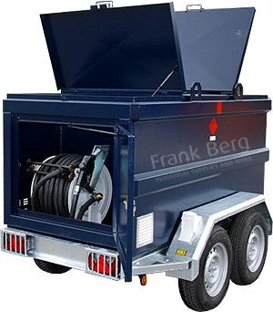 kiwa tank, mobiele brandstoftank, dieseltank op aanhanger, tandemasser dieseltank, brandstoftank mobiel, aanhangwagen