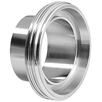 male weld, liner weld, DIN 11851, Dairy coupling, dairy connection, dairy thread