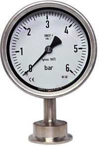manometer, Hygienic pressure gauge, manometer triclamp, ferrule