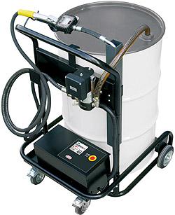 vatpomp, olie, hydraulische olie pomp, 200 liter vaten pomp, vatenpomp, elektrische vatpomp, trolley, vatenkar