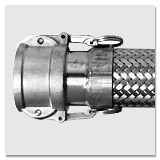 Hose connections (camlock coupling) for liquid supply