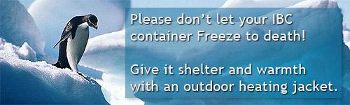ibc container vorst winter bescherming tegen bevriezing verwarming vorstbeveiliging