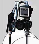 standaard pompset geleverd bij dieseltank, mazouttank, gasolietank, pompsysteem, dieselpomp, 230V