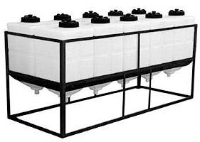 rechthoekige procesvaten, conische procestanks, kunststof tank, silo