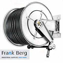 stainless steel hose reel, automatic hose reel stainless steel, AISI 304, hose reel water, hose reel air, retractable hose reel