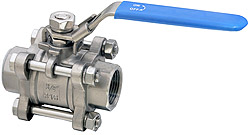 3-piece Stainless steel ball valve, female thread