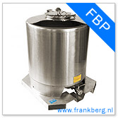 stainless steel tank, stainless steel tote, stainless steel mixing tank, vessel, process tank, metal, forkliftable tank, type FBP
