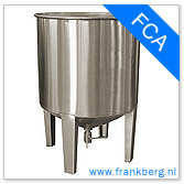 stainless steel tank, stainless steel tote, stainless steel mixing tank, vessel, process tank, metal, forkliftable tank, type FCA
