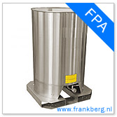 stainless steel tank, stainless steel tote, stainless steel mixing tank, vessel, process tank, metal, forkliftable tank, type FPA