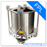 stainless steel tank, stainless steel tote, stainless steel mixing tank, vessel, process tank, metal, forkliftable tank, type FPL