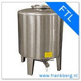 stainless steel tank, stainless steel tote, stainless steel mixing tank, vessel, process tank, metal, forkliftable tank, type FTL