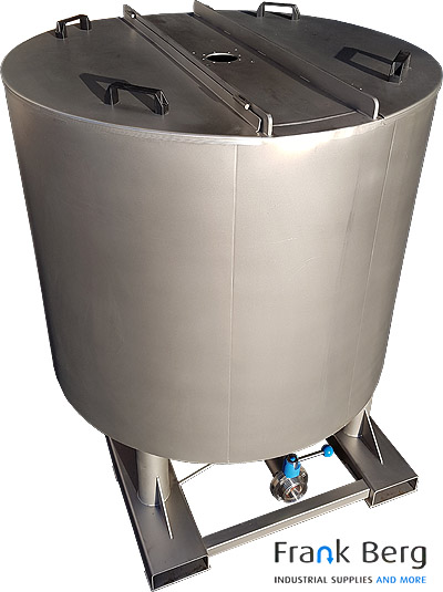 stainless steel mixing tank, double wall, tank
