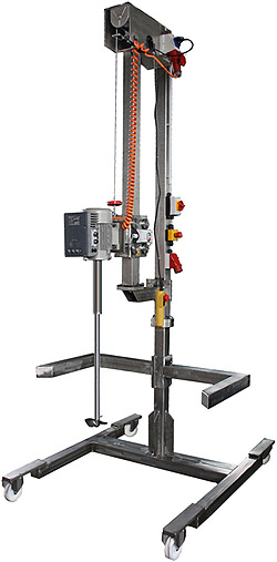 tripod agitators, stand agitators, lifting device, winch, tripod mixers, stainless steel, tripod mixer