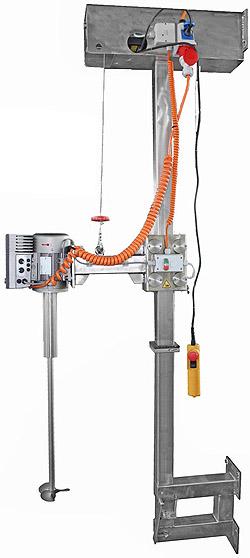 wandstatief, statiefroerwerk, mixer, snelmenger, hefinrichting