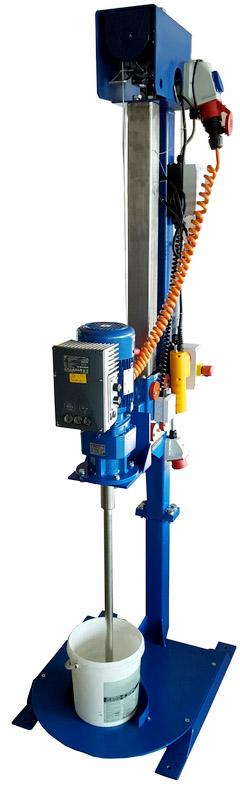 tripod agitators, stand agitators, lifting device, winch, tripod mixers, stainless steel, tripod mixer, pails, buckets