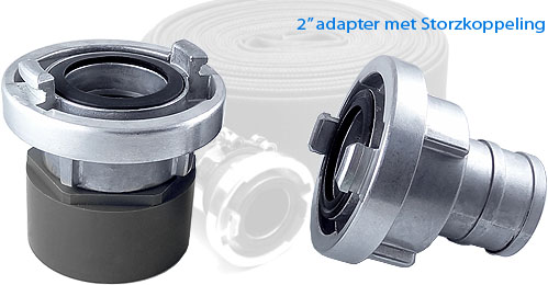 Connect Storz couplings to IBC containers
