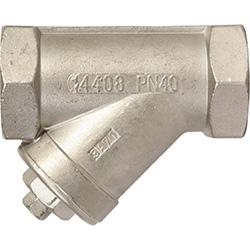 RVS Strainer, Y-Type strainer, Y-filter, Y-strainer, filters, zeef, draadaansluiting, BSP, NPT, PN16, PN40, RVS