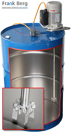 Drum Agitators - 200L Drum mixers - Dosing tanks - Mixing tanks
