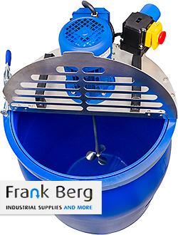 drum lid agitator, drum agitator, agitators, mixers, drum mixer, mixing, 55 gallon, 200 liter, plastic drum, cap